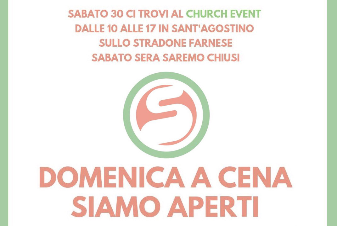 Apertura straordinaria | Sabato Church Event | Superfood